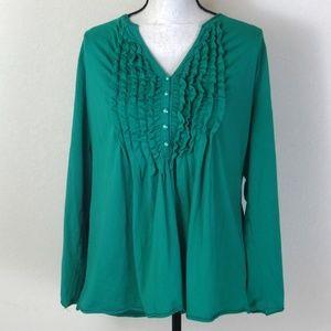 Lane Bryant Plus Size Green Tee-Shirt Size 18